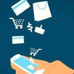 Applications e-commerce sur un téléphone